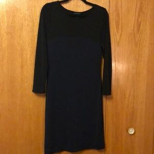 Banana Republic color block long sleeve dress